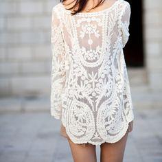 Floral Crochet Tunic
