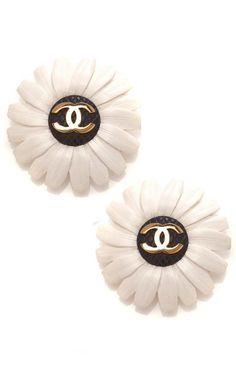 Carole Tanenbaum Chanel Floral Earrings by Carole Tanenbaum for Preorder on Moda Operandi