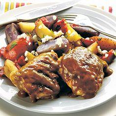 Sweet Mustard Chicken Thighs   MyRecipes.com