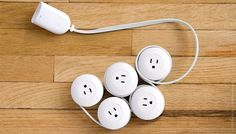 PowerPod- has a power outlet located every three feet on one long extension cord.