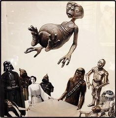 STAR WARS Characters Tossing E.T. into the Air