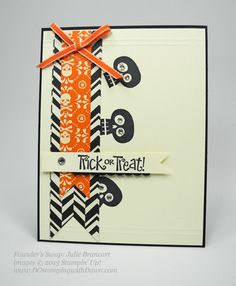 dostamping, stampin up, dawn olchefske,  fall themed swaps, Halloween Hello, founder's circle