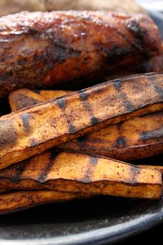 Spiced sweet potato fries for the grill! Yummy!