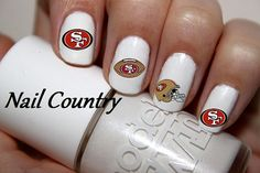 50pc San Francisco 49ers Football Nail Decals Nail Art Nail Stickers Best Price On Etsy NC242 on Etsy, $3.99