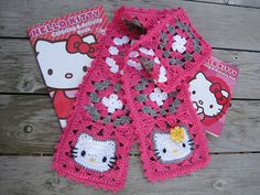Ravelry: schwammrs' Hello Kitty Granny Square Scarf