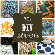 Lots of cute DIY rug ideas to inspire you!
