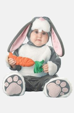 Too cute! Little bunny costume.