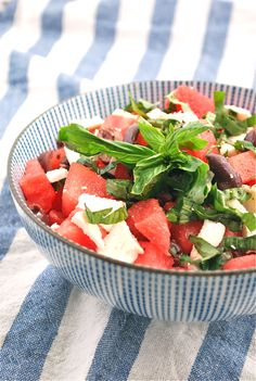 Watermelon & feta salad!