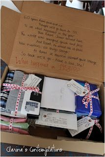 A good idea for my mom and dad--- I'll start thinking now! Fantastic gift idea for parents birthdays