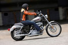 Harley Davidson Sportster Chick car, moto girl, motorcycl, cafe girl, davidson ladi, styleharley davidson, biker, harley girl, davidson sportster