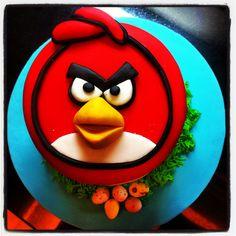 Angry birds cake! cake idea, bird cake, angri bird