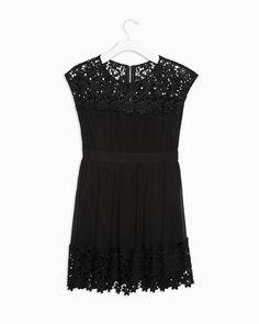 pretty little black lace dress