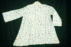 centuri dress, block prints, 18th centuri, chemises, centuri costum, centuri textil, centuri garment, bedgown, blues