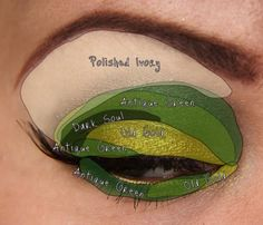 WOW! Great how-to for a defined, dramatic smokey eye in any colour!! lizard, makeup geek, eyeshadow, colors, idea galleri, smokey eye, mac pigment, antiqu mac, antiques