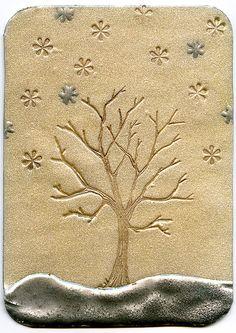 Winter Tree ATC (Silver) by CraftyGoat, via Flickr