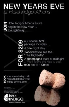 December 31, 2013: New Year's Eve at Hotel Indigo in Athens, #Georgia.