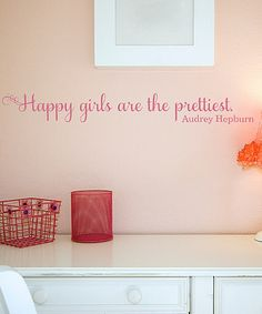 Take a look at this Belvedere Designs Lipstick 'Happy Girls' Wall Decal by Shabby Chic: Home Décor on #zulily today!