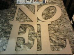 The Savvy Planner: Pottery Barn Knock Off- Noel Sign