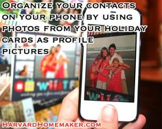 Use holiday cards as profile pictures for your contacts