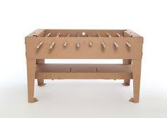 kartoni cardboard foosball table by kickpack