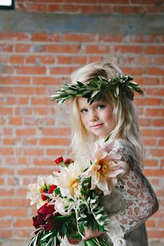 fierce flower girl // photo by Nicole Berrett // http://ruffledblog.com/fuchsia-holiday-celebration