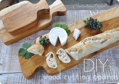 wooden cutting board. DIY