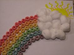 idea, school, rainbow crafts, fruit loop, rainbows, froot loop, loop rainbow, art projects, kid