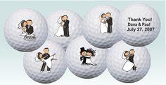 Wedding golf balls- very cute