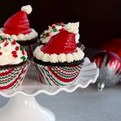 These Kahlua Peppermint Mocha inspired cupcakes are perfect for the upcoming holidays.