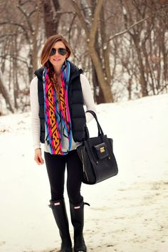 Bright + Cozy. Perfect winter outfit to show some color!