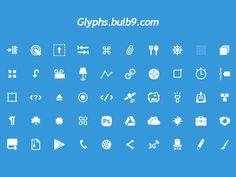 psd, glyphs, icon set, glyph icon, 50 glyph, icons, free icon, alexey anatolievich, design