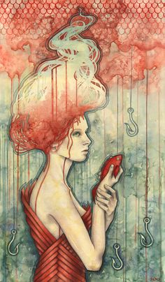 Concede_  Kelly McKernan is a fine artist and illustrator. Her artwork is created with watercolor and she has exhibited with numerous major galleries. She offers limited and open edition prints of her artwork, as well as original paintings
