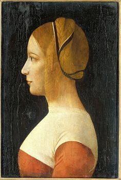 Ambrogio da Predis, Portrait of a Young Woman, circa 1499