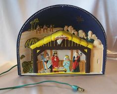 Vintage Christmas Glolite ~ Nativity Scene