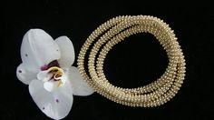 Gold tone beaded necklace or bracelet its a by Ravenmood on Etsy, $20.00