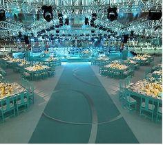 tiffany blue wedding reception..
