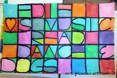 mrspicasso's art room: Paul Klee Letter Painting