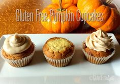Mama's #GlutenFree Pumpkin Cupcakes made 3 Ways! http://bit.ly/1ukhJBO