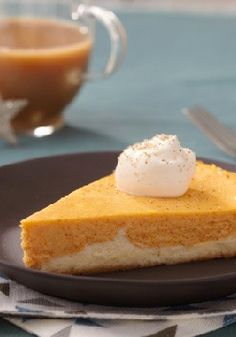 Double-Layer Pumpkin Cheesecake — Don't even think of waiting until Thanksgiving to make this pumpkin cheesecake recipe. It's so delicious, you'll want to enjoy this dessert more than just once a year.