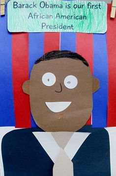 Presidents Day crafts, create a President and tell what they did to help our country