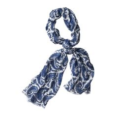 Blue Paisley scarf from Target. $14.99. Really cute and light and fluffy. I love it!