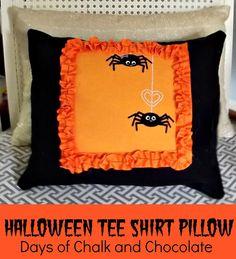 Days of Chalk and Chocolate: Halloween T Shirt Pillow, Hurricane Sandy