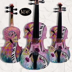Original Hand Painted Violin by Julie Borden