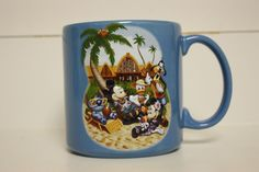 Brand New Disney Aulani Mickey Mouse Coffee Mug Hawaii Donald Goofy Minnie Mouse