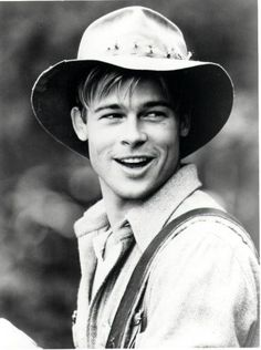 Brad Pitt in an open road stetson : A River Runs Through It.