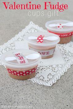 Valentine Fudge Cups