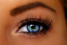 Beautiful makeup blue eyes