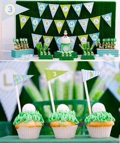 Golf Themed Party & Cupcakes