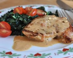 Chicken Sybil is the 'multiple personality' chicken, just pan-cooked chicken in a creamy-mustard sauce plus whatever on-hand ingredients sound good. One of Kitchen Parade's top recipes, just see all the compliments! #KitchenParade #WW4 #LowCarb