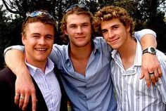 The Hemsworth brothers! Luke, Chris & Liam